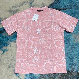 クロムハーツ(Chrome Hearts)のpink Chrome Hearts クロムハーツ Tシャツ ピンク 男女兼用(Tシャツ(長袖/七分))