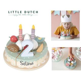 イケア(IKEA)のリトルダッチ  little Dutch 木製バースデーケーキ おままごと(知育玩具)