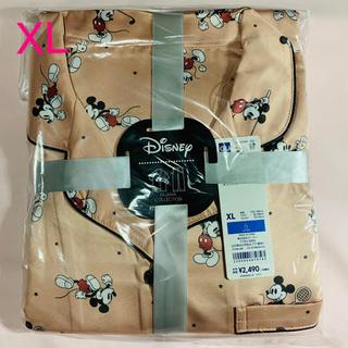 ジーユー(GU)のGU パジャマ サテンパジャマ(半袖)Disney  ミッキー レディースXL(パジャマ)
