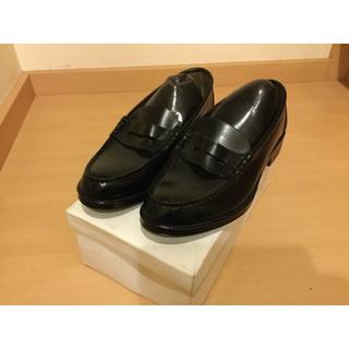コインローファー ブラック 25.5cm(ドレス/ビジネス)