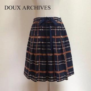 ドゥアルシーヴ(Doux archives)のDOUX ARCHIVES  プリーツスカート サイズM(ひざ丈スカート)