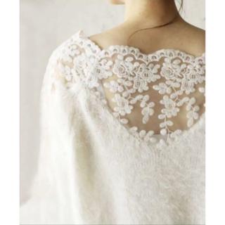 カワイイ(cawaii)のcawaii 花咲く繊細レースのふわふわニット ホワイト F(ニット/セーター)