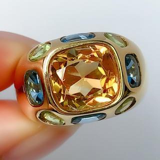 シャルロット様 専用 K18YG クォーツ リング 指輪 イエローゴールド(リング(指輪))