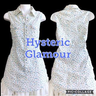 ヒステリックグラマー(HYSTERIC GLAMOUR)のヒステリックグラマー スカル×ローズプリントシャツ(シャツ/ブラウス(半袖/袖なし))
