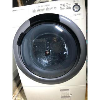シャープ(SHARP)の値下げしました!シャープ ドラム式洗濯乾燥機 ES-S7D-WR 美品(洗濯機)