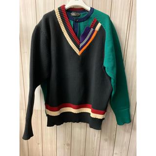 カラー(kolor)のkolor20ssクレイジーパターンニット(ニット/セーター)