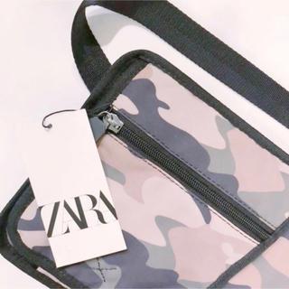 ザラ(ZARA)の新品 ZARA MAN メンズ ミニクロスボディバック カモフラージュ(ボディーバッグ)