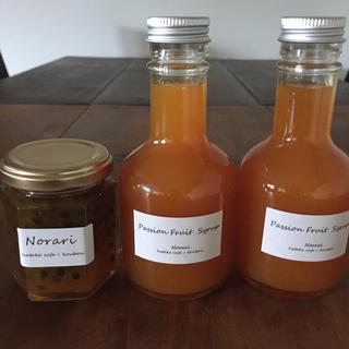 パッションフルーツのジャムとシロップ(缶詰/瓶詰)