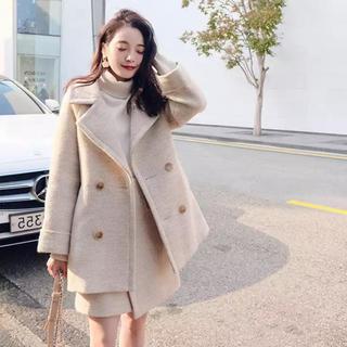 ロペ(ROPE)のウールコート&巻きスカート セットアップ レディース 冬服 秋服(セット/コーデ)
