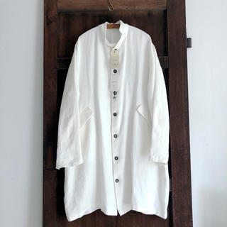 ポールハーデン(Paul Harnden)の美品 Bergfabel Unlined Oversize coat White(ロングコート)