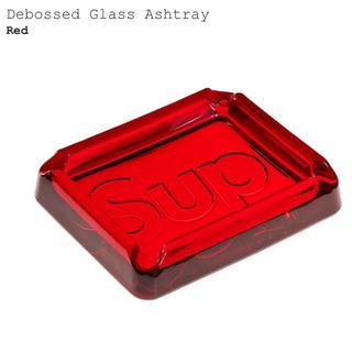 シュプリーム(Supreme)のSupreme Debossed Glass Ashtray 灰皿 赤 red (灰皿)