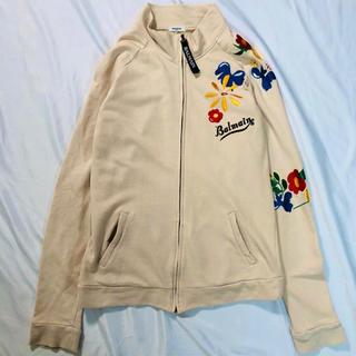 バルマン(BALMAIN)のBALMAIN sweat jacket full zip flower(ブルゾン)