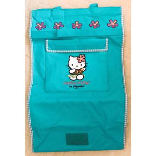 ハローキティ(ハローキティ)のハワイ限定キティ  コマ付き  ブルー  キャリーバッグ(キャラクターグッズ)