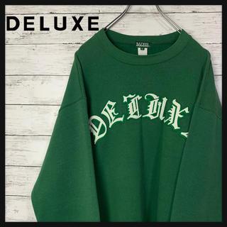 デラックス(DELUXE)の【最高デザイン】DELUXE★刺繍ロゴ入りスウェット トレーナー 人気カラー(スウェット)