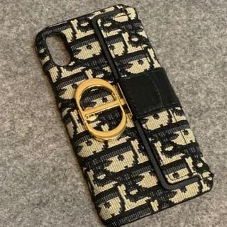 ディオール(Dior)のiPhoneケース トロッター柄 CD ゴールドチャーム(iPhoneケース)