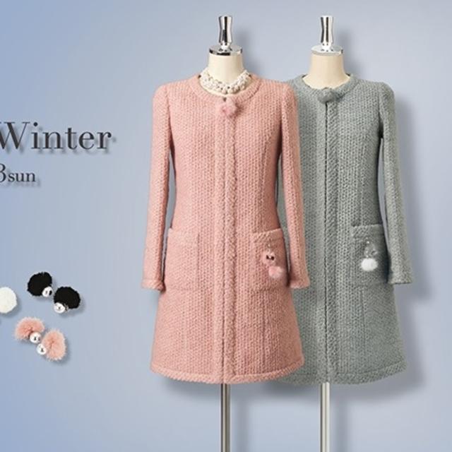 René(ルネ)のルネ❇️Rene❇️ふわふわロングジャケット コート36ローズピンク レディースのジャケット/アウター(ノーカラージャケット)の商品写真