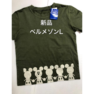 ベルメゾン(ベルメゾン)の◆新品◆ベルメゾン ミッキーマウスTシャツ L(Tシャツ/カットソー(半袖/袖なし))