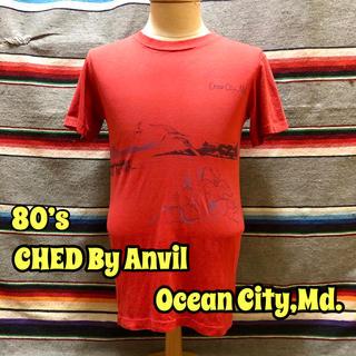 アンビル(Anvil)の80's CHED By Anvil Ocean City,Md Tシャツ(Tシャツ/カットソー(半袖/袖なし))