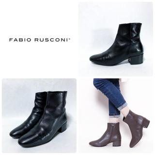ファビオルスコーニ(FABIO RUSCONI)の■2019AW 定3.5万 ファビオルスコーニ ショートブーツ 39 24.5(ブーツ)