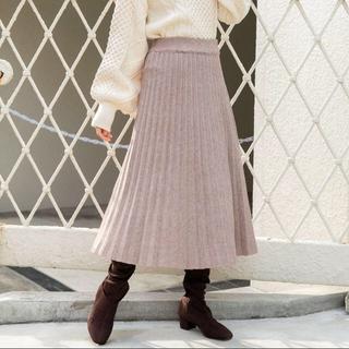 アンティローザ(Auntie Rosa)の新品未開封 vannie u ニットプリーツスカート(ロングスカート)