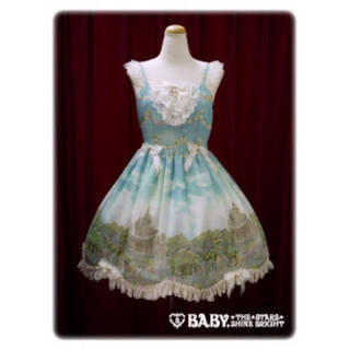 ベイビーザスターズシャインブライト(BABY,THE STARS SHINE BRIGHT)の妖精の湖ジャンパースカート(ひざ丈スカート)