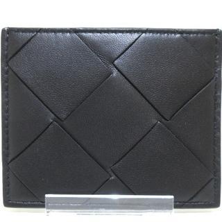 ボッテガヴェネタ(Bottega Veneta)のボッテガヴェネタ カードケース美品  黒(名刺入れ/定期入れ)