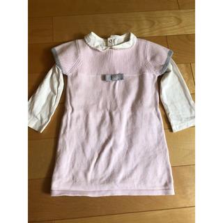 ジャカディ(Jacadi)の子供洋服2点セット 1-2才女の子向け(ワンピース)