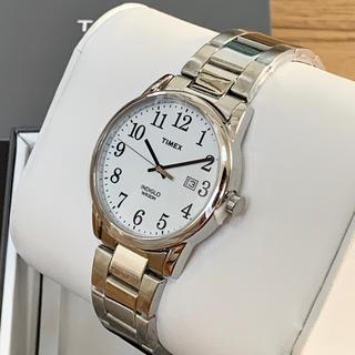 タイメックス(TIMEX)の[新品]TIMEX Easy Reader シルバー/ホワイト(腕時計(アナログ))