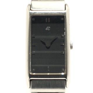 ヨンドシー(4℃)の4℃(ヨンドシー) 腕時計 - レディース 黒(腕時計)