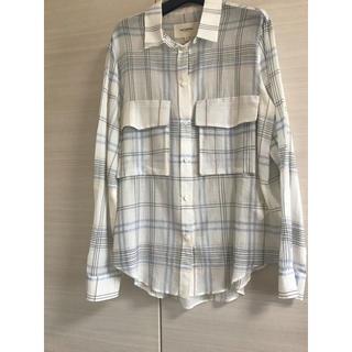 ルカ(LUCA)のLUCA  シルクチェックシャツ(シャツ/ブラウス(長袖/七分))