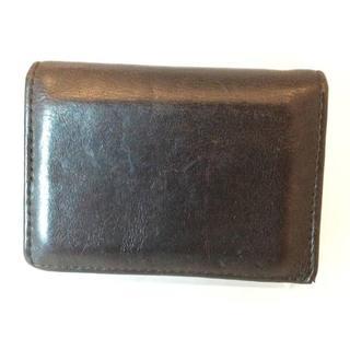 ポロラルフローレン(POLO RALPH LAUREN)のPOLO ポロ・ラルフローレン ダークブラウン系 カード コイン ケース(名刺入れ/定期入れ)