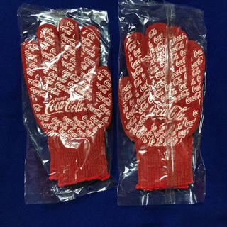 コカコーラ(コカ・コーラ)のコカコーラ軍手 2双(日用品/生活雑貨)