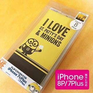 ミニオン(ミニオン)のミニオンズ iPhone8P/7Plus フリップカバー MINI65A(iPhoneケース)