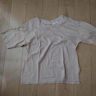 ジーナシス(JEANASIS)のJEANASIS☆ベージュシャツフリー(F)サイズ (Tシャツ(半袖/袖なし))