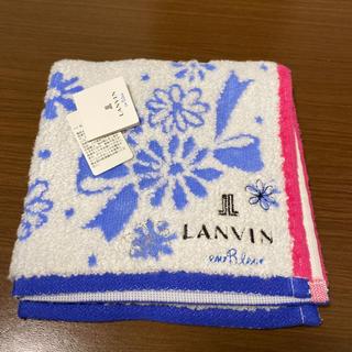 ランバンオンブルー(LANVIN en Bleu)のタオルハンカチ(ハンカチ)