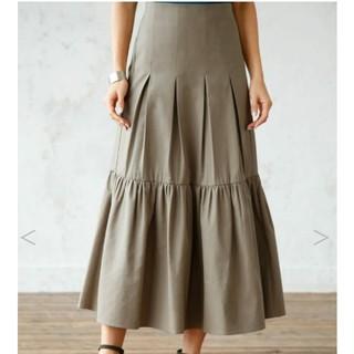 スタイルデリ(STYLE DELI)のコットン混紡 裾フレアロングスカート(ロングスカート)
