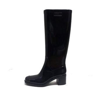 フルラ(Furla)のフルラ レインブーツ 36 レディース - 黒(レインブーツ/長靴)