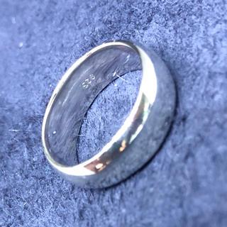 シルバー925リング ラウンド シンプル 幅広ワイド甲丸リング 7ミリ銀 指輪(リング(指輪))