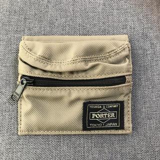 ポーター(PORTER)のポーター ウォレット ミニ財布 カーキ PORTER(折り財布)