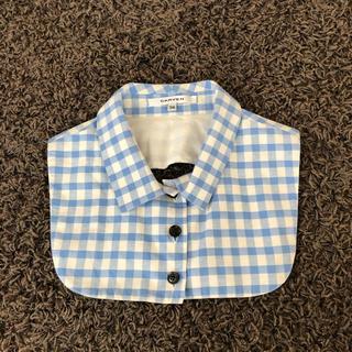 カルヴェン(CARVEN)のCARVEN カルヴェン ギンガムチェック  シルク混素材 つけ襟(つけ襟)