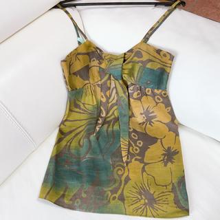 セオリー(theory)のセオリー 麻・絹 ノースリーブ 0サイズ(Tシャツ(半袖/袖なし))