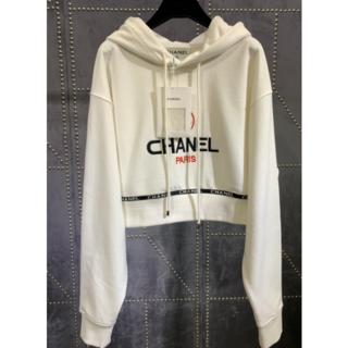 シャネル(CHANEL)のCHANEL シャネル ロゴ パーカー 38(パーカー)