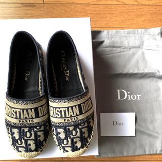 クリスチャンディオール(Christian Dior)のDior オブリーク エスパドリーユシューズ(スリッポン/モカシン)