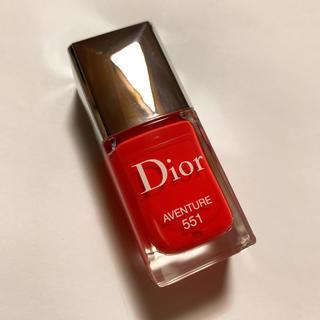 クリスチャンディオール(Christian Dior)の美品 Dior ヴェルニ 551 アヴァンチュール ネイル マニキュア(マニキュア)