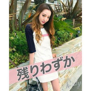 レディー(Rady)のrady  ピンクロゴ ロングシャツ ミニワンピ(Tシャツ(長袖/七分))