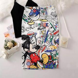 マウジー(moussy)のミッキーペンシルスカート【新品】(ひざ丈スカート)