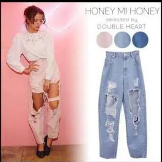 ハニーミーハニー(Honey mi Honey)の【HONEY MI HONEY】クラッシュデニム(デニム/ジーンズ)