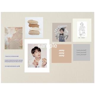 ボウダンショウネンダン(防弾少年団(BTS))のグク カード 韓国 ポストカード アート(アート/写真)