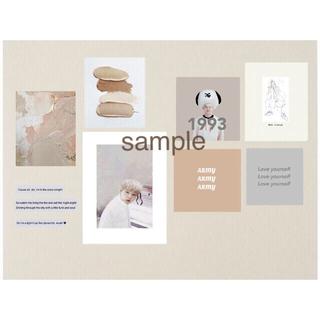 ボウダンショウネンダン(防弾少年団(BTS))のシュガ ユンギ カード 韓国 アート ポストカード(アート/写真)