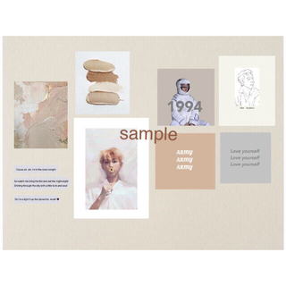 ボウダンショウネンダン(防弾少年団(BTS))のカード 韓国 ポストカード アート bts ナムジュン(アート/写真)